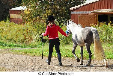 m�dchen, pony