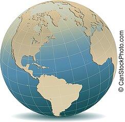 mód, észak, globális, afrika, amerika, retro, európa, világ, déli