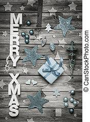 mód, b betű, kopott, fény, dekoráció, xmas:, vidám, sikk, karácsony