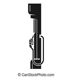 mód, benzin, felszerelés, állomás, áll, ikon, egyszerű