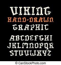 mód, betűtípus, kézi munka, betűtalp, grafika