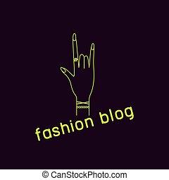 mód, blogger