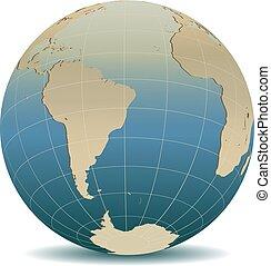 mód, globális, afrika, retro, világ, amerika, déli
