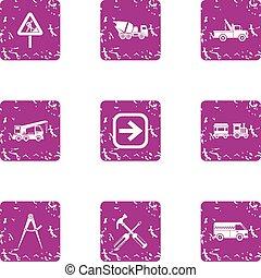 mód, grunge, ikonok, állhatatos, útpálya, revamp