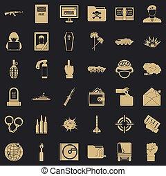 mód, ikonok, állhatatos, egyszerű, hidegháború