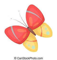 mód, illustration., ikon, eredet, jelkép, egyedülálló, vektor, butterfly., húsvét, karikatúra, részvény