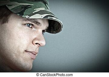 mód képez, sapka, lerombol, hadsereg