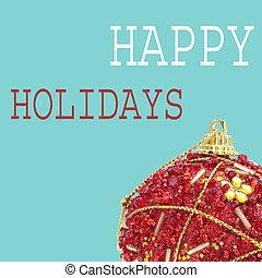 mód, labda, művészet, szöveg, váratlanul, ünnepek, karácsony, boldog