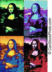 mód, művészet, vinci, mona, leonardo, váratlanul, akkor, lisa, festmény