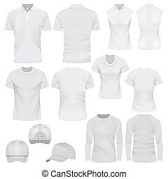 mód, mockup, állhatatos, sapka, póló, gyakorlatias