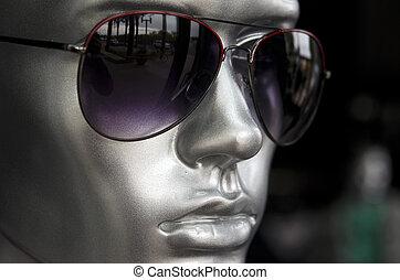 mód, napszemüveg, mens