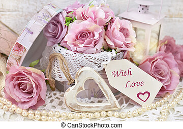 mód, vagy, szeret, szöveg, dolgozat, címke, dekoráció, esküvő, kopott, romantikus, sikk, valentines