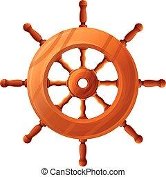 mód, vitorlás hajó, ikon, gördít, hajó, karikatúra