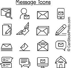 móda, dát, poselství, hubený, pošta, řádka, newsletter, ikona