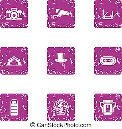móda, grunge, ikona, dát, kamera, video