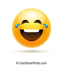 móka, lol, ikon, emoticon, karikatúra, mosoly, ábra, emoji,...