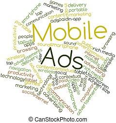 móvel, anúncios