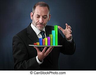 móvel, analytics, estatísticas, finanças