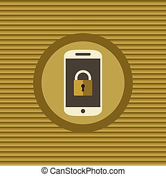 móvel, apartamento, segurança, ícone