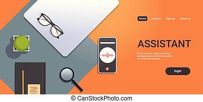 móvel, app, pessoal, voz, online, assistente, smartphone,...