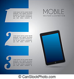 móvel, desenho, infographics