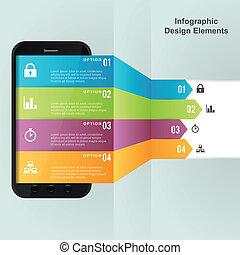 móvel, dispositivo, opções