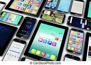 móvel, dispositivos