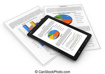 móvel, finance., conceito negócio