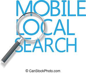 móvel, local, busca, marketing