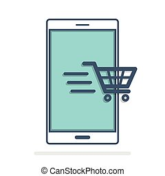 móvel, marketing, idéia