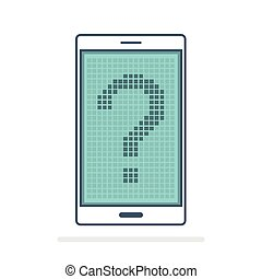 móvel, pergunta, digital