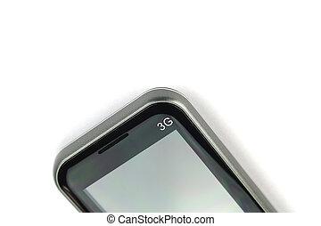 móvel, smartphone, com, tela branco, isolado, branco