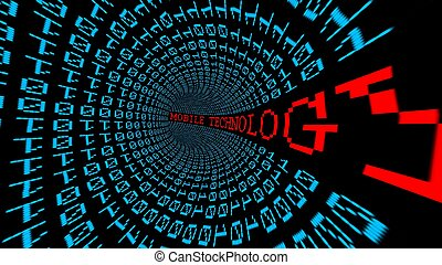 móvel, tecnologia, dados, túnel