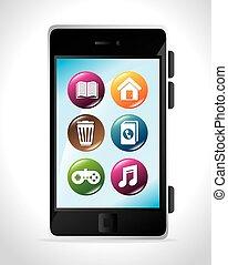 móvil, apps, diseño