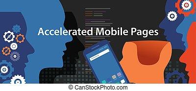 móvil, codificación, páginas, programación, accelerated,...