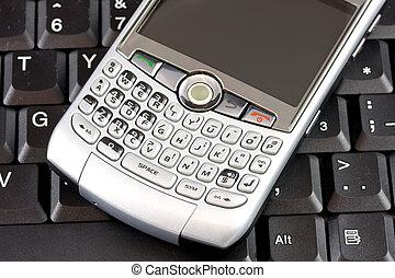 móvil, computador portatil, plano de fondo