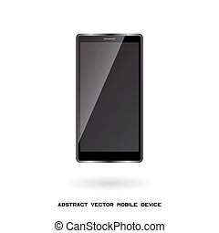 móvil, dispositivo, moderno, adminículo