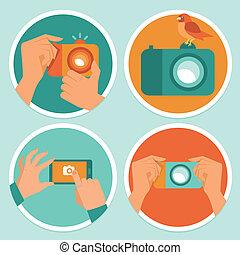 móvil, fotografía, camaras