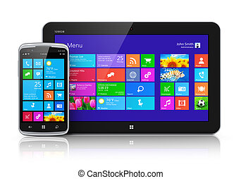 móvil, interfaz, touchscreen, dispositivos