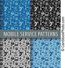 móvil, patrón, servicio