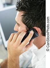 mówiąc, człowiek, telefon