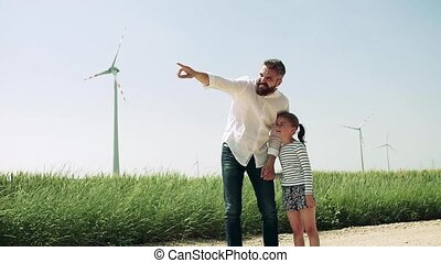 mówiąc., dojrzały, zagroda, ojciec, mały, wiatr, córka, pole
