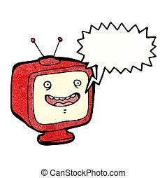 mówiąc, telewizja, litera, rysunek