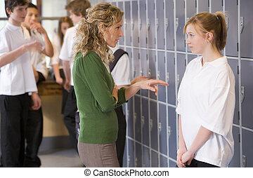 mówienie, nauczyciel, student