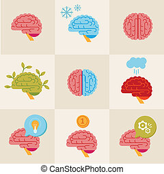 mózg, ikony