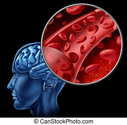 mózg, komórki, krew