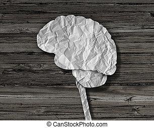 mózg, papier