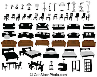 m bel illustrationen und stock art m bel illustrationen und vektor eps clipart grafiken. Black Bedroom Furniture Sets. Home Design Ideas