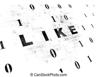 mögen, medien, sozial, hintergrund, digital, concept: