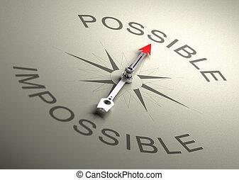 möglich, vs, unmöglich